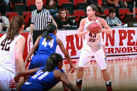 Austin Peay Women's Basketball. (Courtesy: Brittney Sparn/APSU Sports Information)
