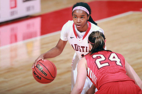 APSU Womens Basketball Freshman Tiasha Gray was named the OVC's Freshman of the Week, Monday. (Courtesy: Brittney Sparn/APSU Sports Information)
