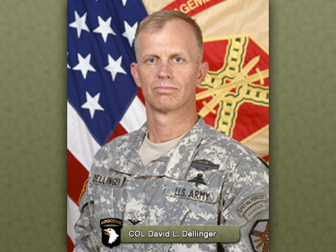 "Fort Campbell Garrison Commander Col. David L. ""Buck"" Dellinger"