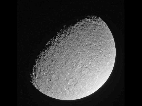 This image was taken on March 10, 2013, and received on Earth March 10, 2013 by NASA's Cassini spacecraft. The camera was pointing toward Rhea at approximately 174,181 miles (280,317 kilometers) away, and the image was taken using the CL1 and CL2 filters. (Image Credit: NASA/JPL/Space Science Institute)