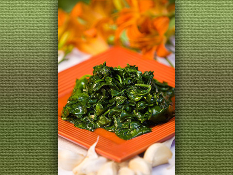 Garlic Spinach Saute