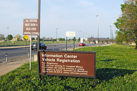 Fort Campbell's Gate 4 to be closed Saturday only for Repair.