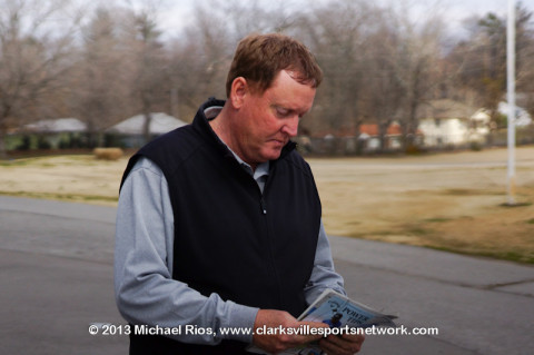 Swan Lake PGA Professinal Jeff Vaughn looks over this weekend's tee-times for the USJGT event