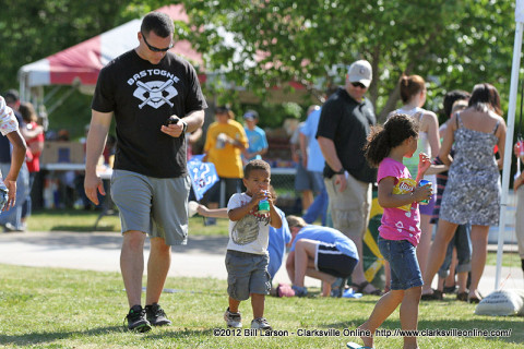 Families having fun at last year's Military Appreciation Day Picnic.