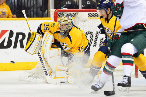 NHL - Nashville Predators goalie Pekka Rinne (35). (Photo by Don McPeak, USA TODAY Sports)