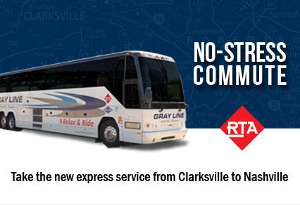 RTA's Clarksville Express Bus Service to Nashville.