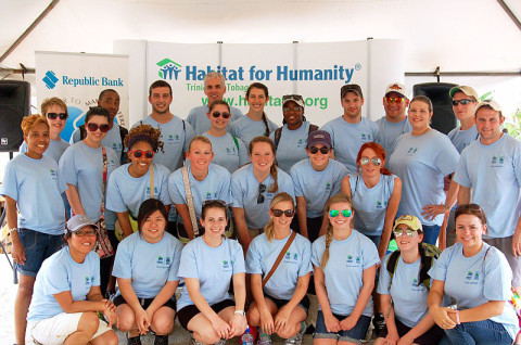 Austin Peay State University Students spend spring break building houses with Habitat for Humanity.
