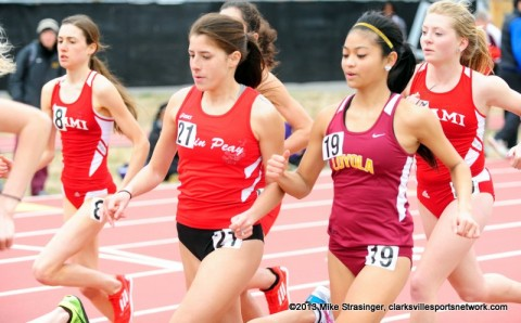 APSU Junior Xiamar Richards got a personal-best 4:38.83 in the 1500m run. Austin Peay Women's Track and Field.
