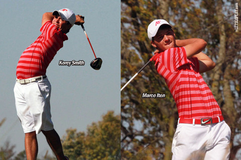 Austin Peay Mens Golf's Korey Smith and Marcho Iten. (Courtesy: Austin Peay Sports Information)