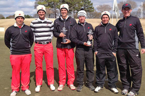APSU Golf Team - Memphis Intercollegiate Champions. Courtesy: Austin Peay Sports Information)