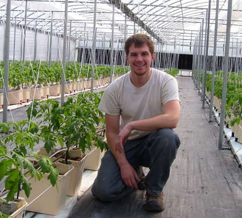 Chris Williams is the operator of a BrightFarms greenhouse in Yardley, Pa., that will provide fresh produce to a supermarket only a half a block away.