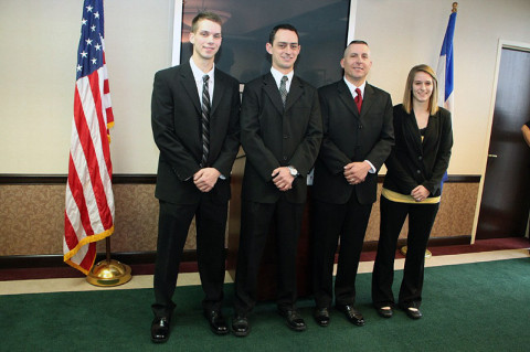 (L to R) Stephen Hurt, Nicholas Holley, Robert Pasionek, and Shelby Murray.