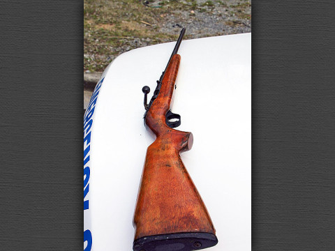 Loaded 22 Rifle Man was Holding. (Photo by CPD Jim Knoll)