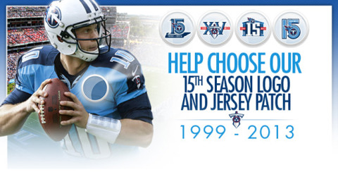 Fans to Choose Logo Commemorating 15th Season of Tennessee Titans Football