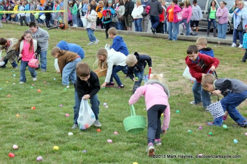 Kids had a lot of fun at the 18th Annual Hilltop Super Market Easter Egg Hunt last year.
