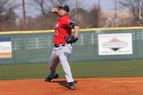 APSU junior starter Lee Ridenhour threw seven scoreless innings to notch his season's sixth victory, Friday, at Southeast Missouri. Austin Peay Baseball. (Courtesy: Lisa Kemmer)