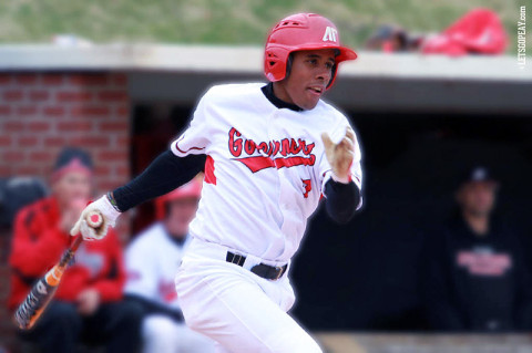 APSU right fielder Rolando Gautier led the Govs with four hits in Friday's doubleheader at Eastern Kentucky. Austin Peay Baseball. (Courtesy: Brittney Sparn/APSU Sports Information)