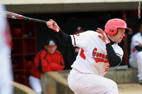 APSU senior outfielder Cody Hudson's bunt single in the 10th sparked a three-run game-winning rally at Eastern Kentucky, Saturday. Austin Peay Baseball. (Courtesy: Brittney Sparn/APSU Sports Information)