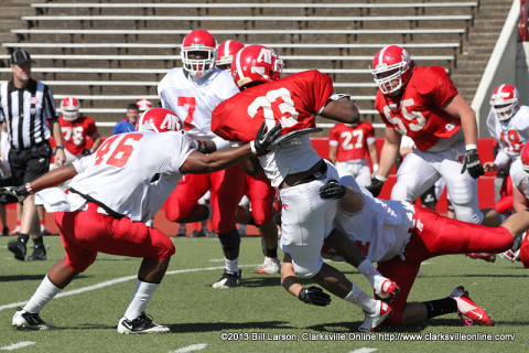 APSU Football's Red and White scrimmage.