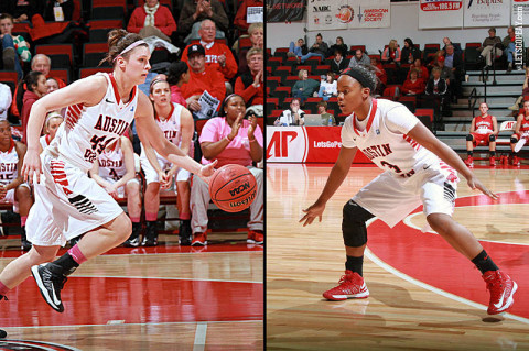 Shira Buley (right) and Shelby Olszewski (left) leave Austin Peay Women's Basketball. (Courtesy: Austin Peay Sports Information)