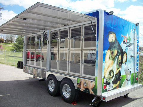 Montgomery County Animal Control Mobile Adoption Trailer.