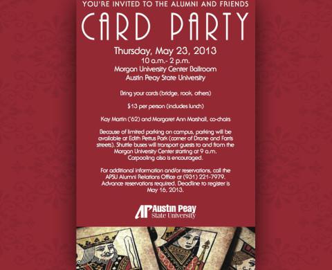 APSU Alumni Relations Card Party