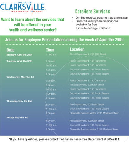 Clarksville Employee Presentation Flyer