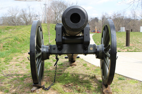 New Cannon now on display at Fort Defiance Civil War Park and Interpretive Center.