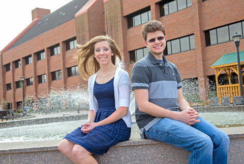 APSU students Kristen Knight and Chris Hayes were both named Barry M. Goldwater Scholars. (Photo by Beth Liggett/APSU)