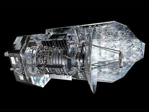 Herschel spacecraft artist's concept. (Copyright ESA/AOES Medialab)