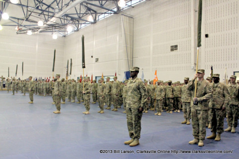 4th Brigade Combat Team's Color Casing Ceremony