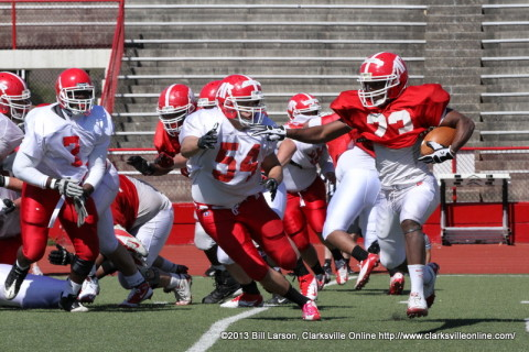 APSU Football held their second scrimmage Saturday, April 13th, 2013.