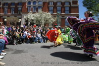 Dancers from Little Mexico & Latin Folklore perform at the Courthouse Stage