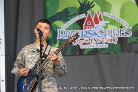 The 101st Airborne Division Rock Band performing at the 2013 Rivers and Spires Festival