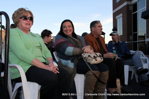Montgomery County Mayor Carolyn Bowers waits to see JoDee Messina perform at the 2013 Rivers and Spires Festival
