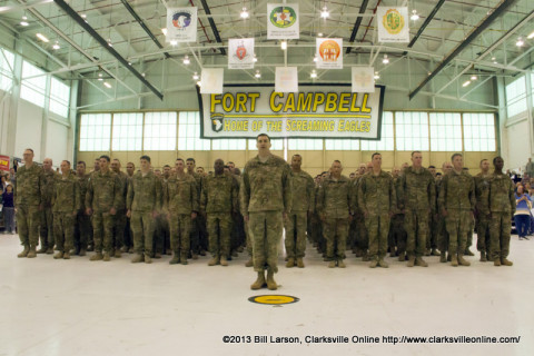 The returning soldiers of the 3rd Brigade Combat Team