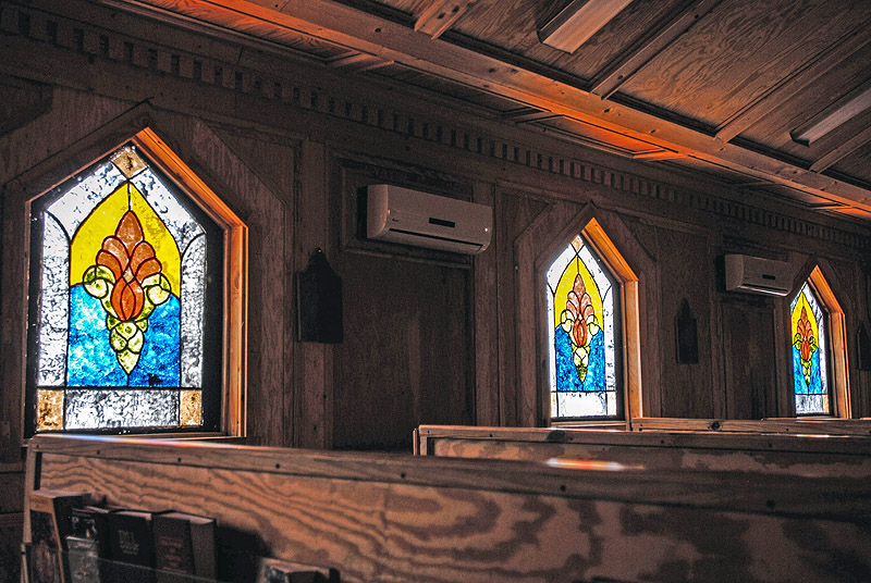 Stained Glass Windows That Were Hand Painted By A Team Of Chaplains Assistants Are Now