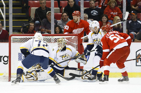 Nashville Predators vs. Detroit Red Wings. (Rick Osentoski - USA Today)