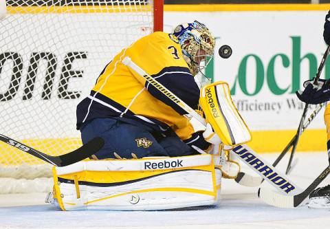 Nashville Predators goalie Pekka Rinne (35). (Don McPeak - USA TODAY Sports)