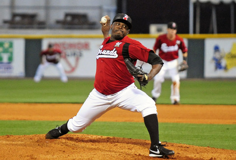 Nashville Sounds right-hander Frankie De La Cruz . (Mike Strasinger - sportsnashville.net)