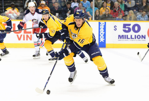 Nashville Predators left wing Rich Clune (16). (Don McPeak - USA TODAY Sports)