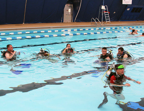 SCUBA class for the Warrior Transition Unit.
