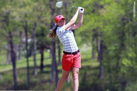 APSU's Jessica Cathey leads the Lady Govs tied for 14th at 6 over par just 4 strokes behind the leaders. Austin Peay Women's Golf. (Courtesy: Austin Peay Sports Information)