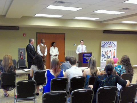 Students were recognized for completing the Youth Career Development Program.