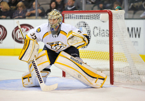 Nashville Predators goalie Pekka Rinne (35). (Jerome Miron - USA TODAY Sports)