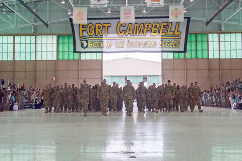 Fort Campbell to hold Welcome Home Ceremony for 129th Combat Sustainment Support Battalion soldiers returning from Kuwait, Wednesday.(U.S. Army Photo by Sgt. Duncan Brennan)