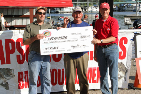 Larry Ethridge and Steve Richerson won 19th Annual Governors Bass Tournament. (Courtesy: Austin Peay Sports Information)