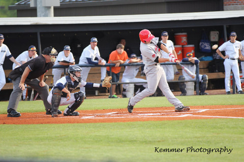 APSU Junior first baseman Craig Massoni had two home runs and five RBI to lead Austin Peay past UT Martin, Friday night. APSU Baseball. (Lisa Kemmer)