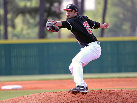 APSU Senior starting pitcher Casey Delgado struck out 16 batters in the Govs 5-1 victory at UT Martin, Saturday. Austin Peay Baseball. (Lisa Kemmer)