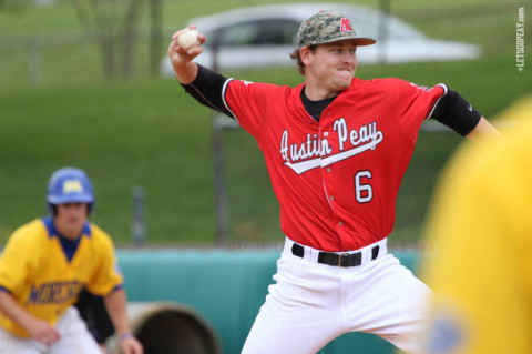 Junior starter Ryan Quick threw seven scoreless innings in the Govs victory at UT Martin, Sunday. (Courtesy: Brittney Sparn/APSU Sports Information)